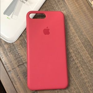 New iPhone 7/8 Plus Apple Silicone Case Rose Red